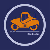 Silhouette of road roller — Stock Vector