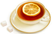 чай с лимоном — Стоковое фото