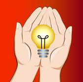 Saving energy — Stock Vector