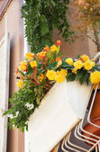 The flowers on the balcony — Stock Photo
