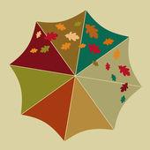 Umbrella, autumn. — Stock Vector