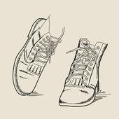 Vector boots — Stock Vector
