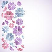 Kağıt çiçekler güzel arka plan. — Vecteur