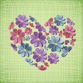 Hermoso fondo con flores de papel. — Vector de stock