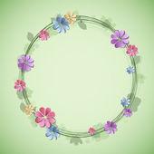 Spring wreath. Seasonal background. — Stock Vector