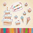 Birthday card — Vettoriale Stock #36167665
