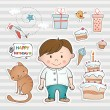Vector de stock : Birthday set