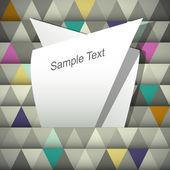 Resumen antecedentes con el lugar para tu texto — Vector de stock