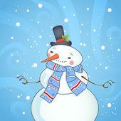 Christmas card design with snowman. — Stock Vector