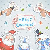 Kerstkaart ontwerpen. — Stockvector