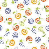 Seamless pattern with delicious fruits. — Stock Vector