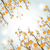 Seasonal background. Branches with leaves. — Wektor stockowy