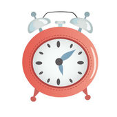 Cartoon red alarm clock. — Stock Vector