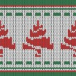 Knitting pattern with a Christmas Tree. — Stock vektor