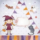 Halloween card design. — Vector de stock
