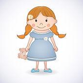 милая маленькая девочка — Cтоковый вектор