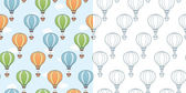 Hot air balloons. — Stock Vector
