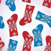 Seamless pattern with Christmas socks — Stok Vektör