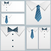 Shirt and tie — Stock Vector