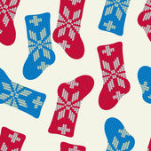 Christmas socks pattern — Stock vektor