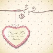 Kortdesign med hjärta. — Stockvektor
