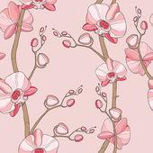 Hand drawn flowers . — Stockvector