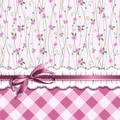 Design de cartão vintage com rosas — Vetor de Stock