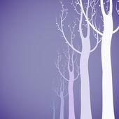 Fondo de árboles decorativos — Vector de stock