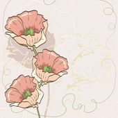 Vintage background with flowers — Stock Vector