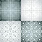 Set of nine monochrome seamless patterns. — Vettoriale Stock