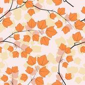 Maple tree branch. — Stock Vector