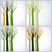 Four seasons. — Stock Vector
