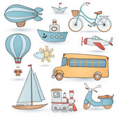 Travel set. — Stock Vector