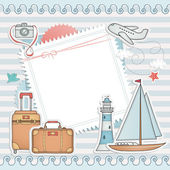 Travel card design. — Stock Vector