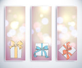Set of holiday greeting cards. — Stok Vektör