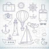 Travel set. — Stock Vector
