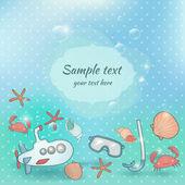 Underwater summer card — Stock Vector