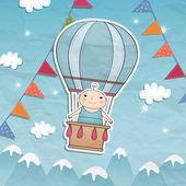 Baby boy dusch kort — Stockvektor