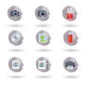 Conjunto de iconos de vector plano — Vector de stock
