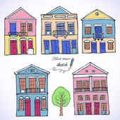 Set oh houses — Stock Vector