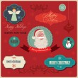 Christmas labels elements — Stock Vector