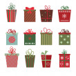 Christmas gifts — Stock Vector #35134447