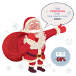 Santa Claus Advertising — Stock Vector