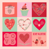 Valentine's day card — Vecteur