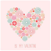 Valentine's day floral card — Stock Vector