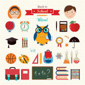 Back to school elements — Stock Vector