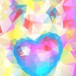 Beautiful Valentine's abstract heart, vector — Imagens vectoriais em stock