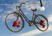 Christmas Bike — Stock Photo