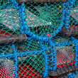 Pile of lobster traps — Stock Photo