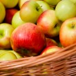 Stock Photo: Apple Basket - fresh red apples in a basket